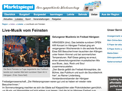 Presse Echo sundown vom Marktspiegel