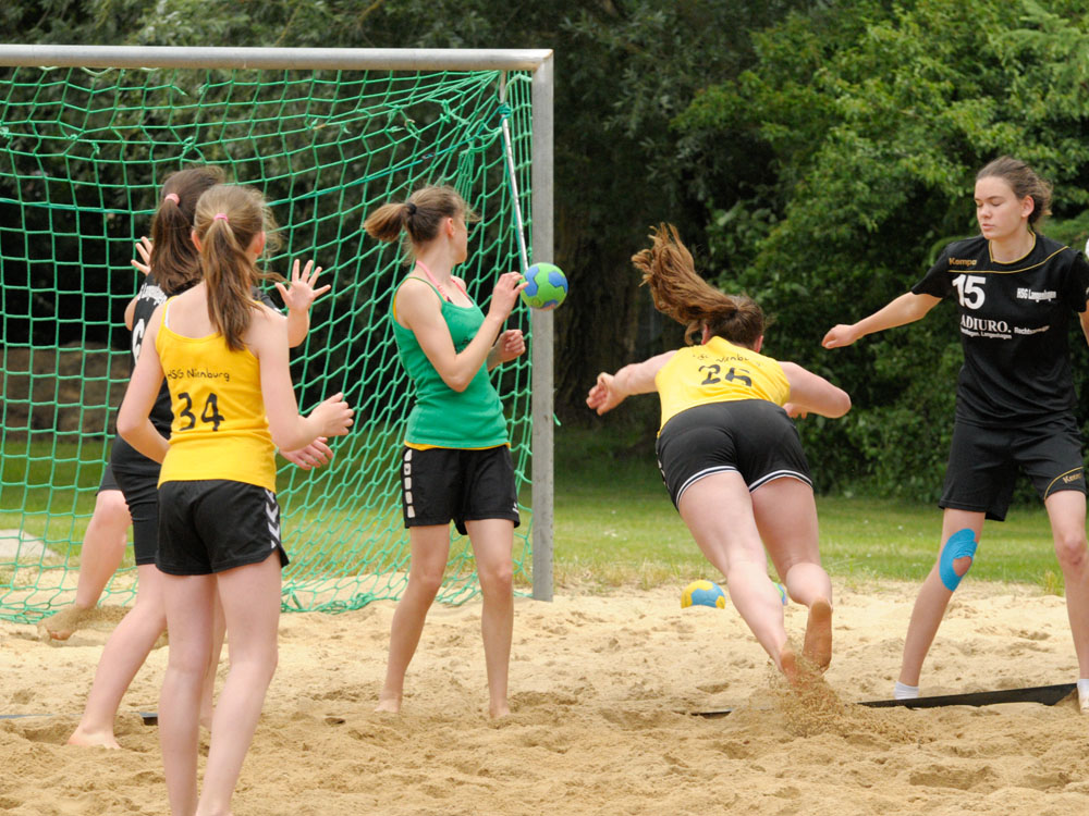 18. August Beachhandball Landespokal bei uns